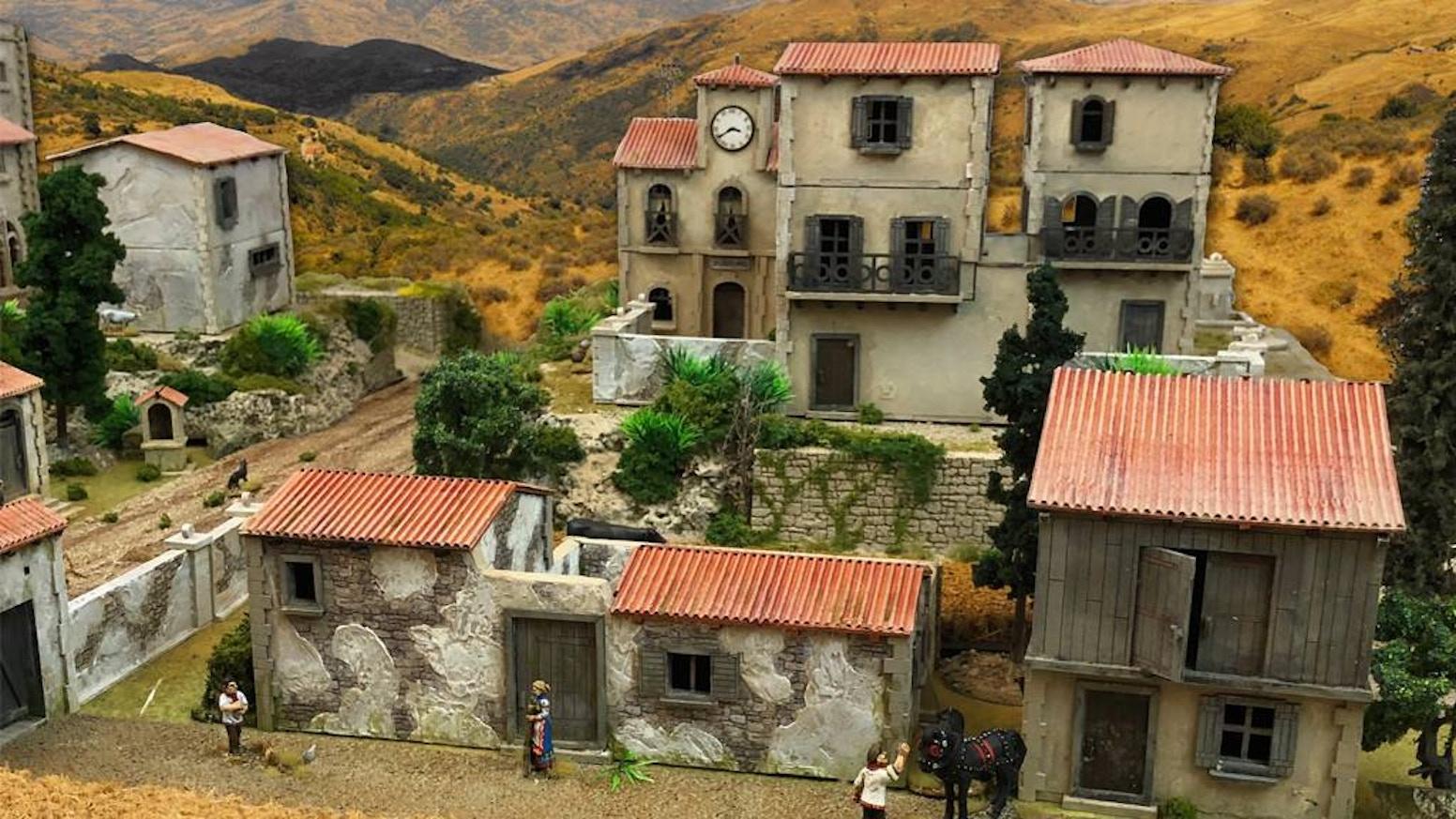 Mediterranean Village, 28mm, laser-cut HDF terrain by Things