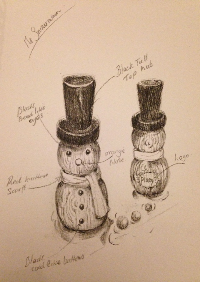 Original drawing of the Snowman