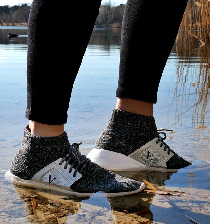 Walking in water.