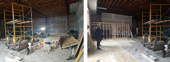 Plumbing, Electrical, Drywall,  it's all happening!