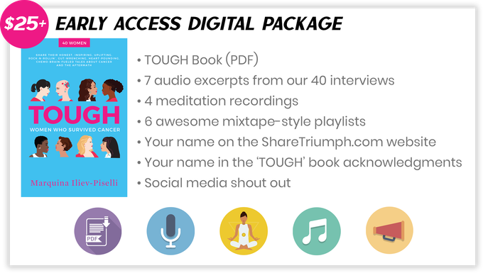 "Pledge $25 or more and select the ""Early Access Digital Package"" to receive the items above."