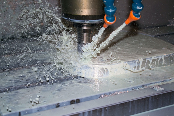 CNC machining.