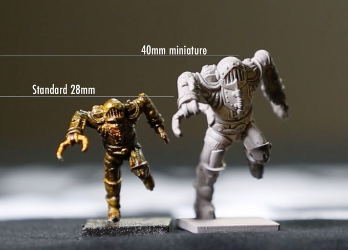 A larger scale brings out more details and make minis easier to handle and paint.