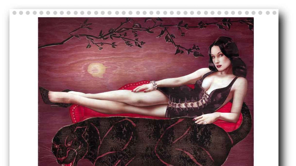 """Project image for A high-end Pinup Burlesque calendar 2020 """"Diva"""". Handpainted"""
