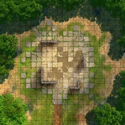"Evening Ruins 24"" x 24"" Battle Map"