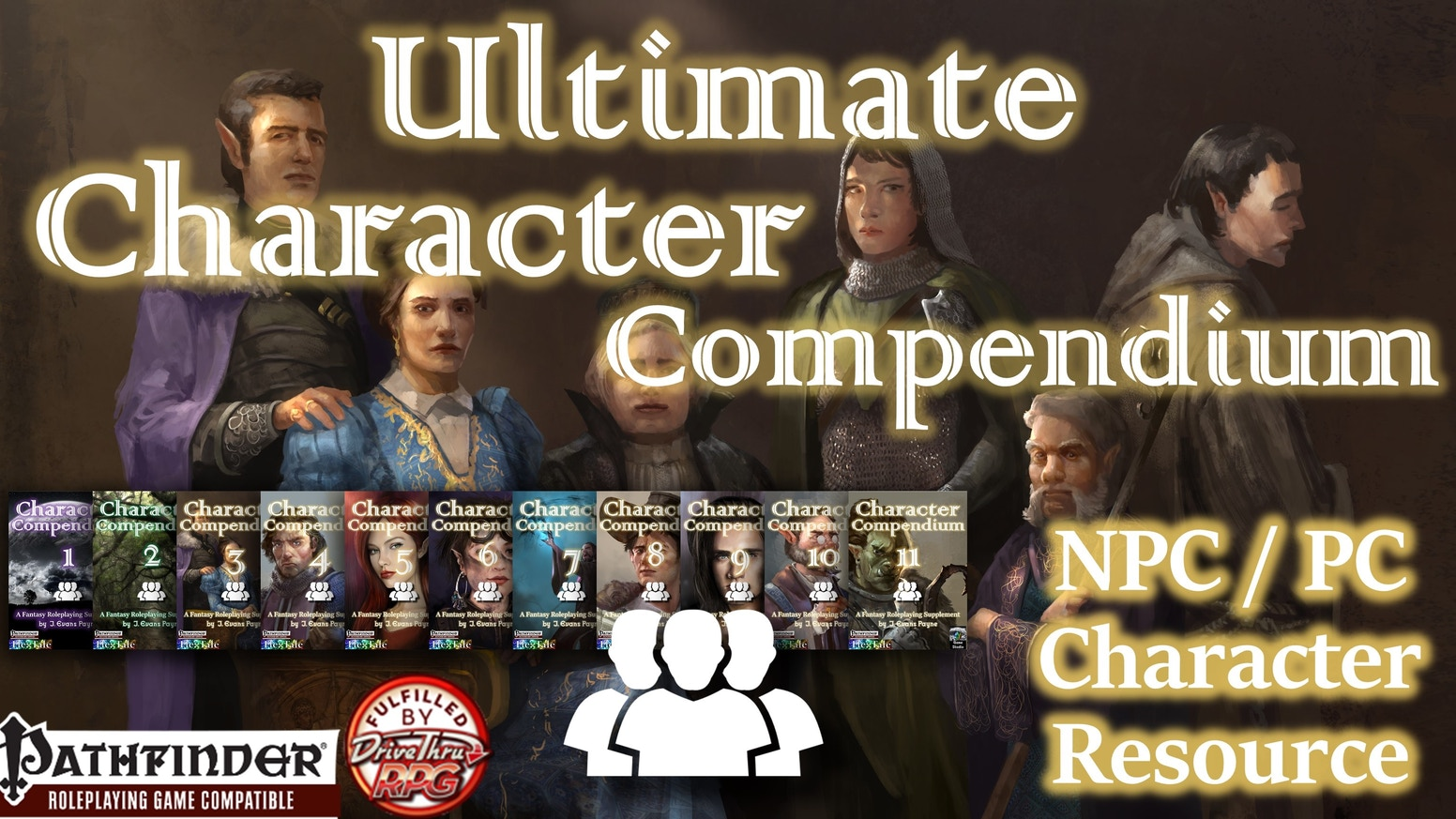More than 4,000 ready-to-play NPCs for Pathfinder, featuring nearly 1,000 archetypes, classes, races, and more, for Pathfinder RPG.