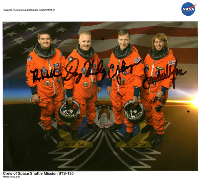Figure 11 - Signatures of the final Space Shuttle crew gifted while working at NASA. Click to learn more.