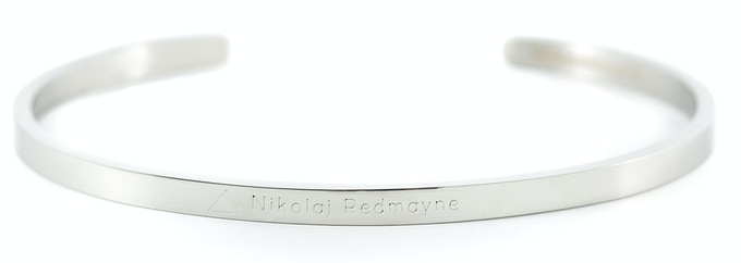 Silver Bracelet - Nikolaj Redmayne (please note that the text on the bracelet is an illustration, indicating the look of the final design)