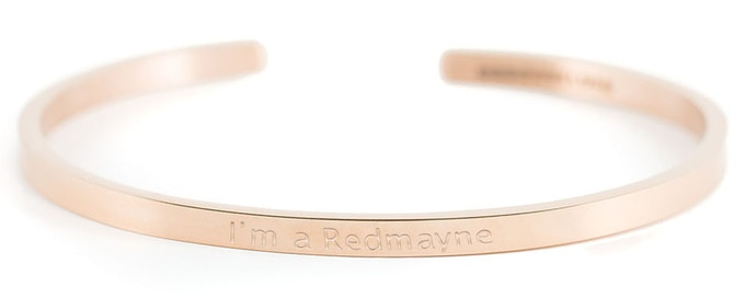 Rosé Gold Bracelet - I'm a Redmayne (please note that the text on the bracelet is an illustration, indicating the look of the final design)