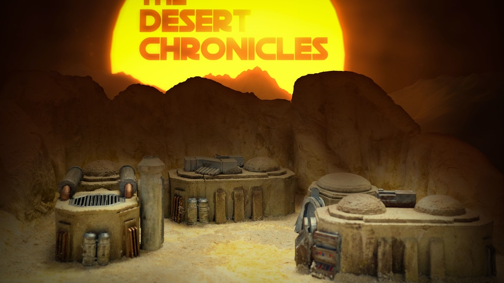 SciFi Desert Town - 28-32 mm modular 3D printing SciFi Town project video thumbnail