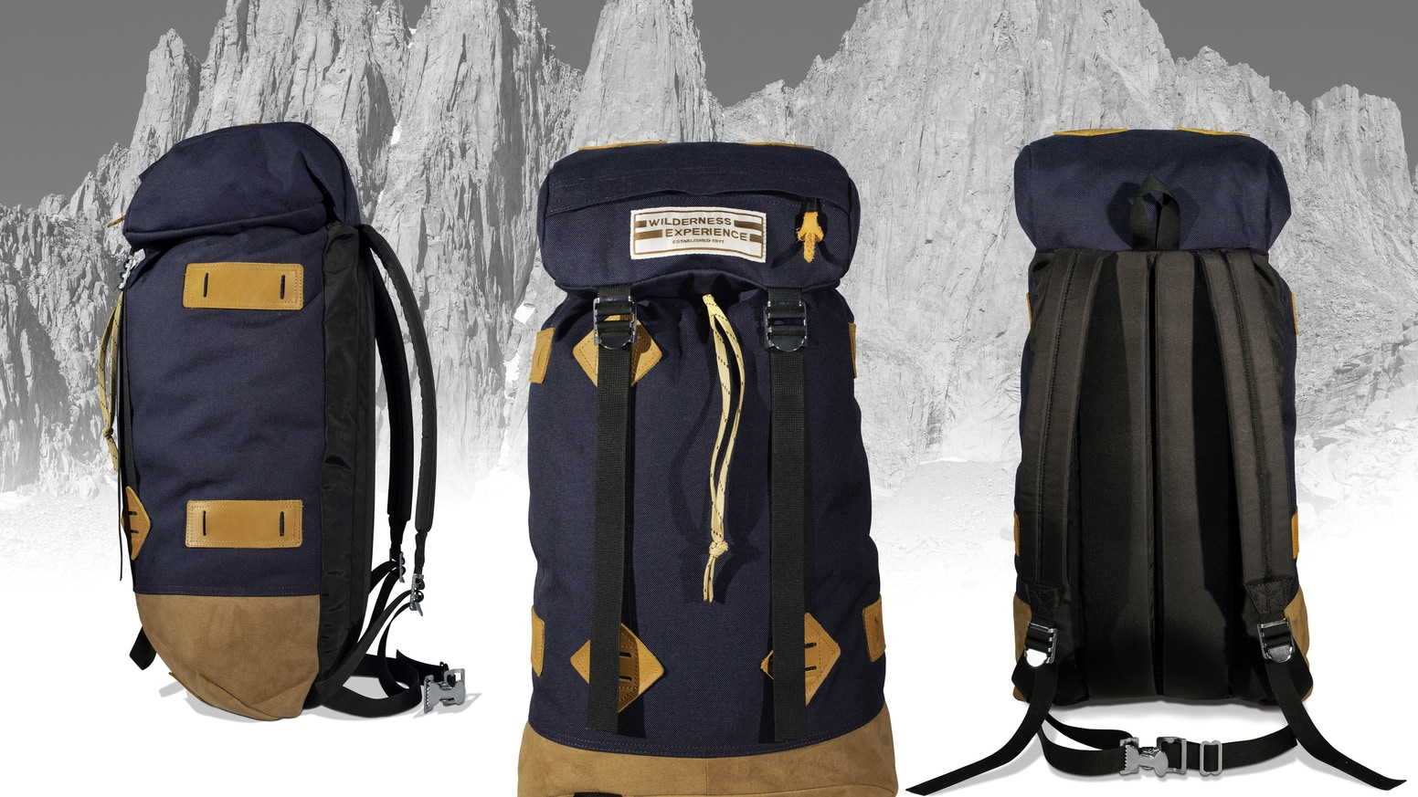 An exact re-creation of the 1974 Klettersack, by the original Wilderness Experience Team. Original pattern, materials & quality.