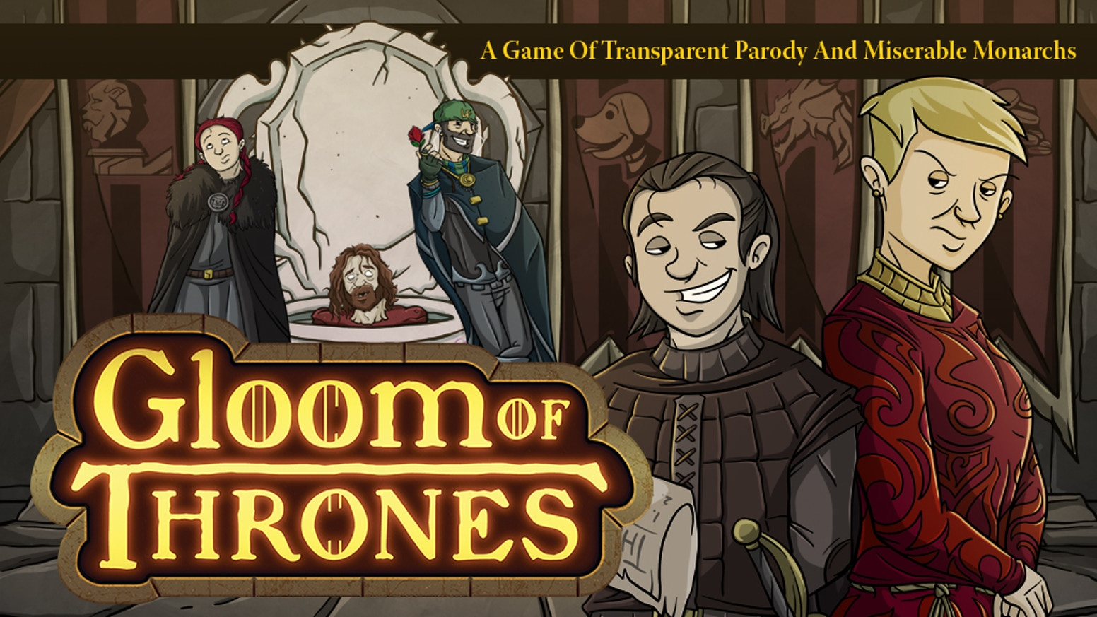 Make your noble family miserable and then kill them. The bestselling card game Gloom lays claim to the Umpteen Kingdoms of Eastereg.