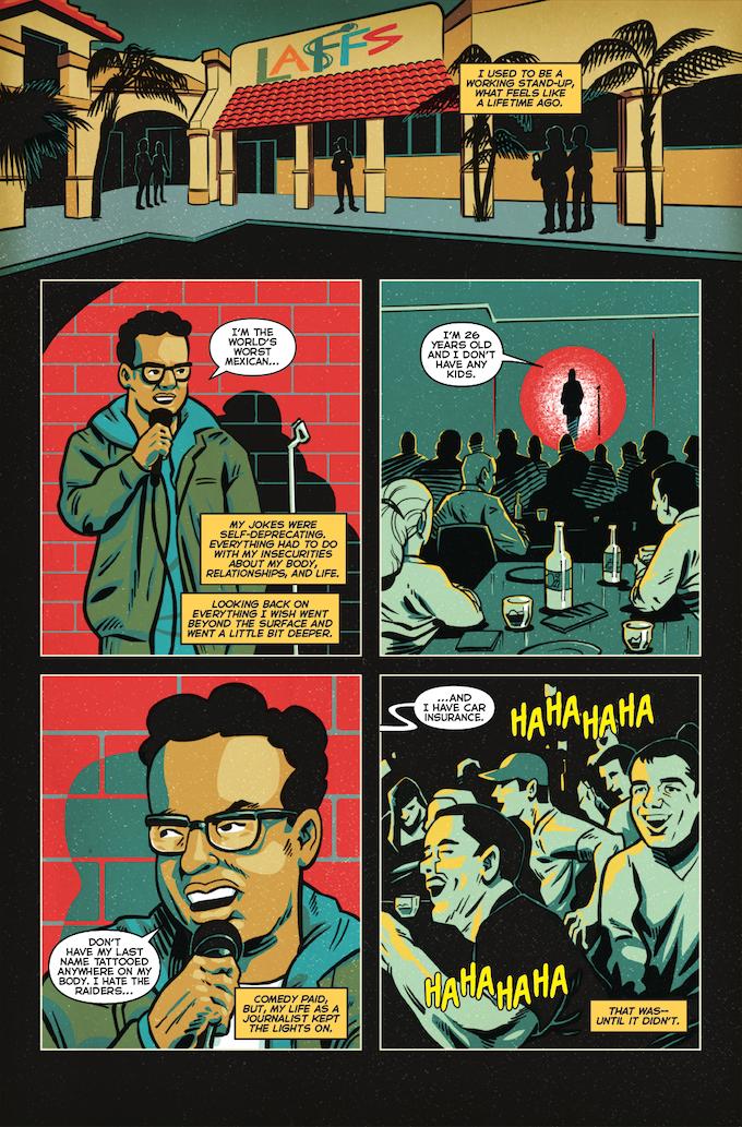 La Voz De MAYO #2, Page 1 (Barajas, Gonzo, Brice, Napier)