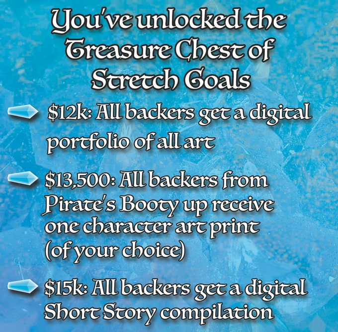 Stretch Goals were unlocked at $10,000!