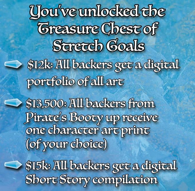Stretch Goals were unlocked at $10,000!