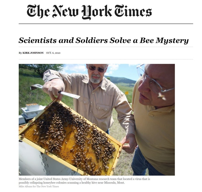 Bee Health Guru Team featured in the New York Times