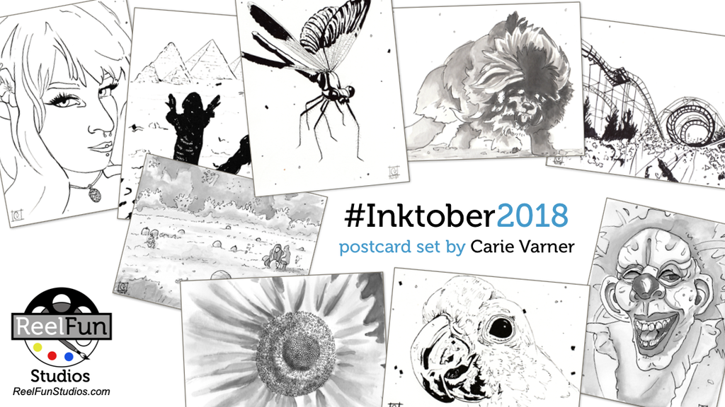 #Inktober2018 Postcard Set project video thumbnail