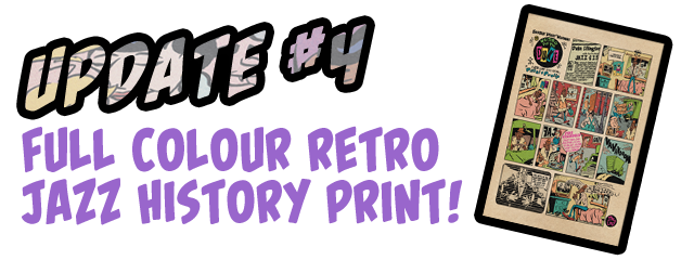 A4 full-colour collaborative comic strip art print