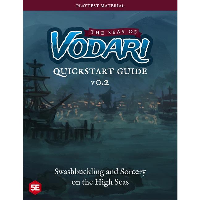 Preview of the Seas of Vodari Quickstart Guide cover.