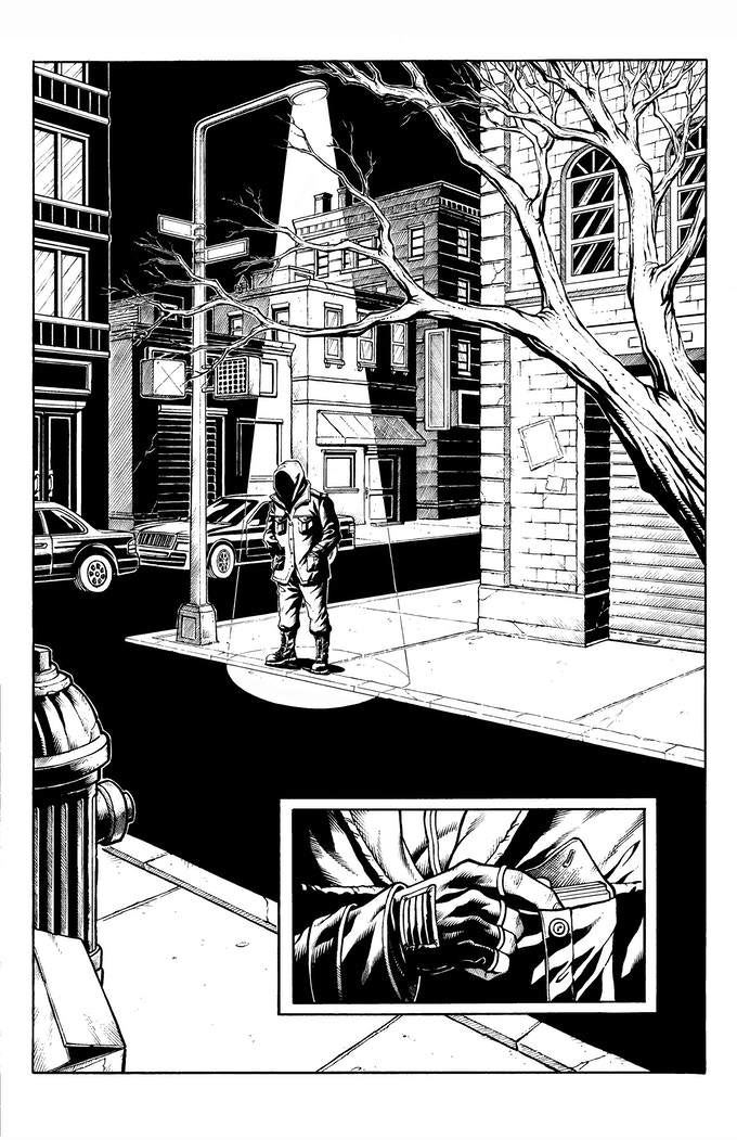 Issue #1, Page #1—pencils and inks by DaFu Yu