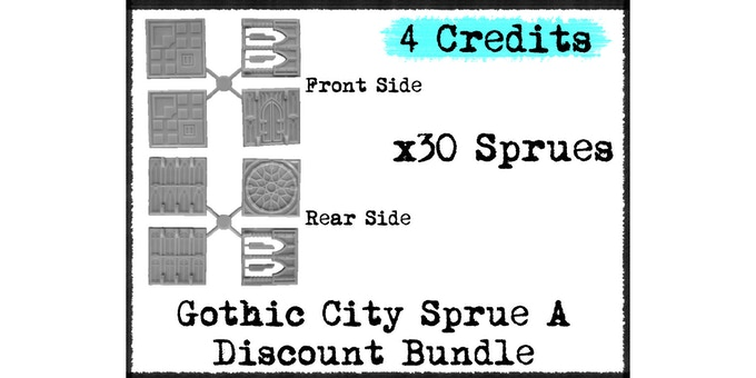 Discount Bundle of 30x of pre-existing Gothic City Sprue A