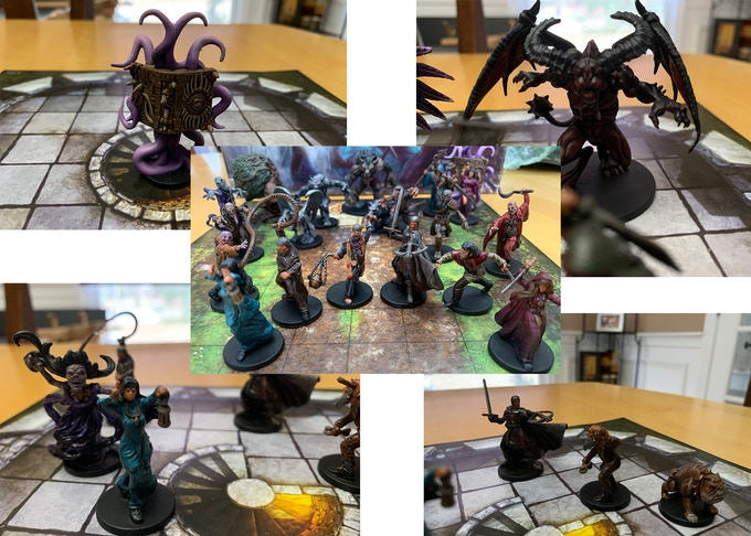 Painted Minis by Mitch Schafer from Obsidian Studios