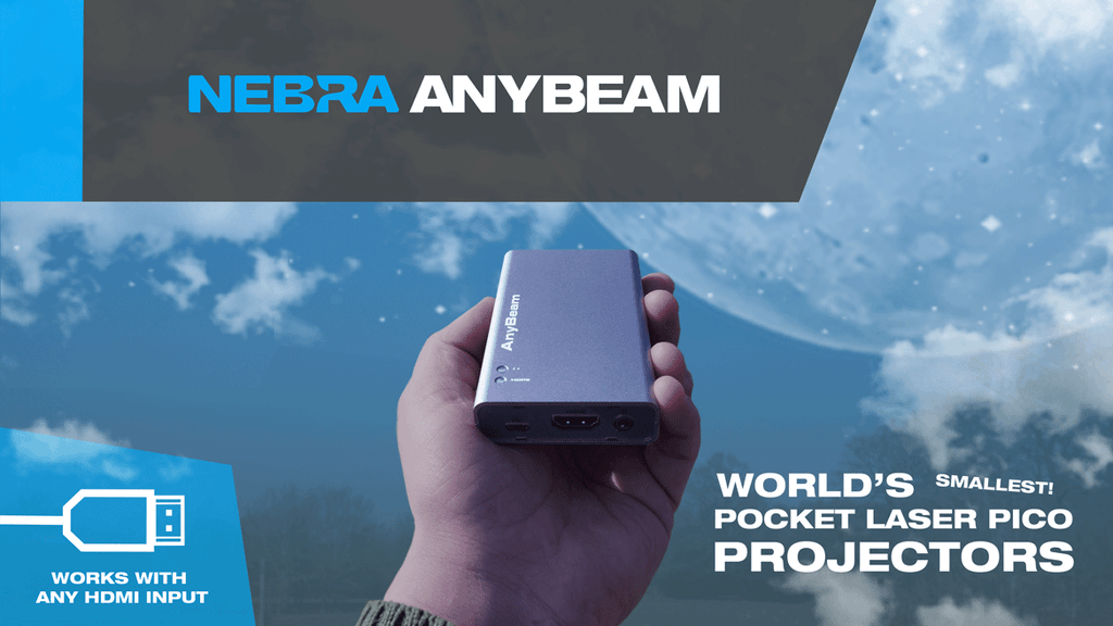 Nebra AnyBeam - world's smallest pocket cinema projectors project video thumbnail