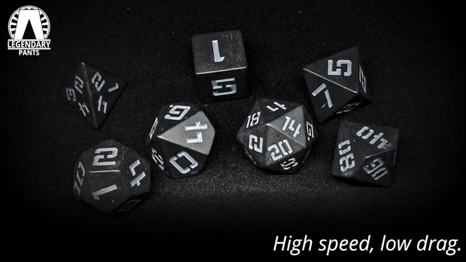 F-117: Gray numbers on matte black dice
