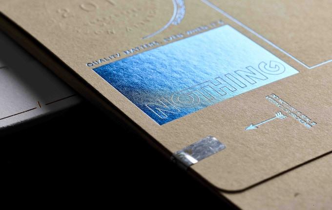Vibrant metallic letterpress foil