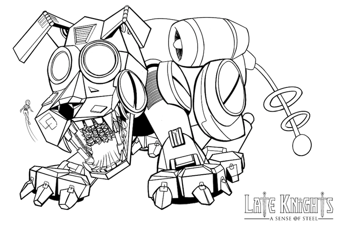 The Colouring page all early bird backers will get