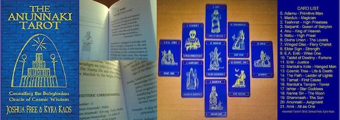 ANUNNAKI TAROT : BABYLONIAN ORACLE OF COSMIC WISDOM by Joshua Free & Kyra Kaos