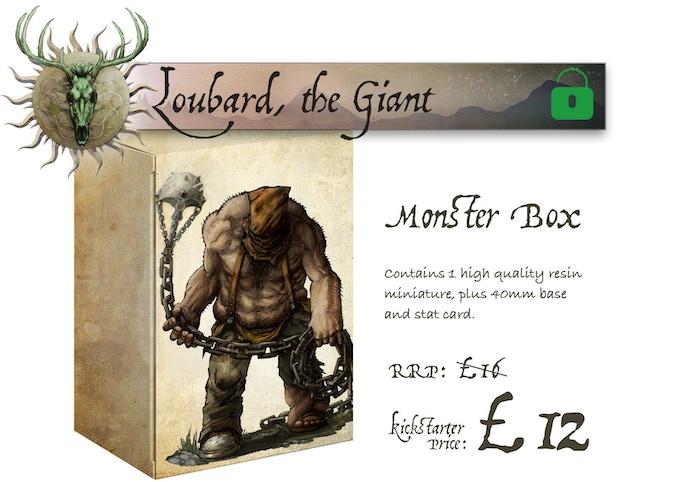 Loubard the Giant Monster Box contains Loubard the Giant (single large miniature)