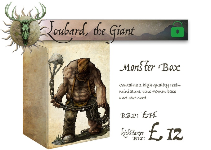 Loubard the Giant Monster Box contains Loubard the Giant (single large miniature)