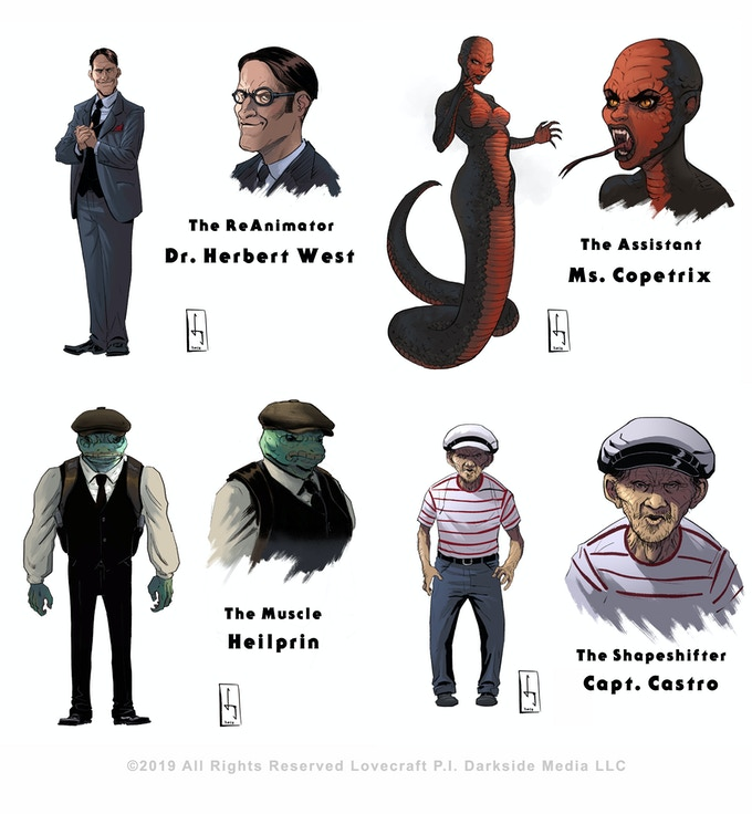 """The Baddies"" Characters designed by Daniel Sguiglia"