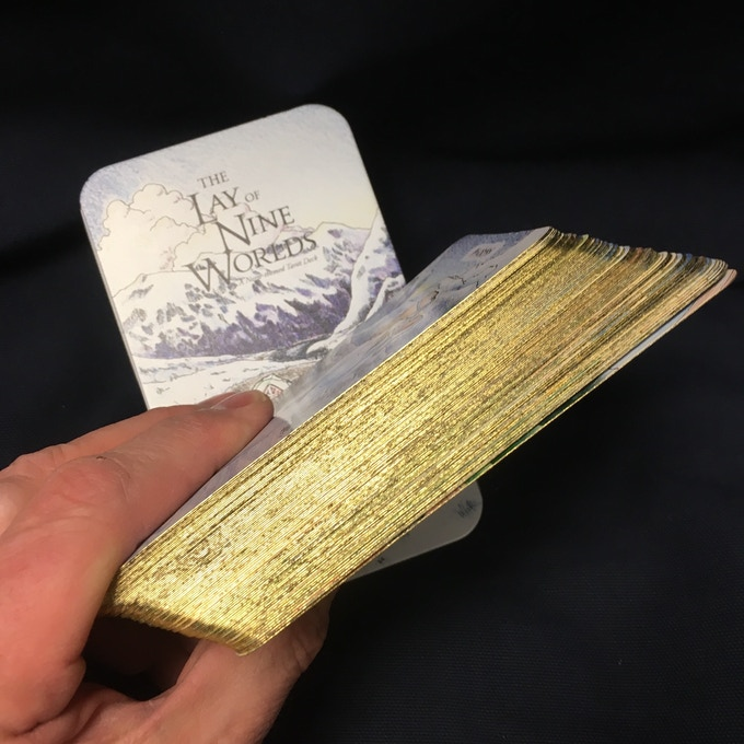 The gold gilt edging stretch goal is completed!
