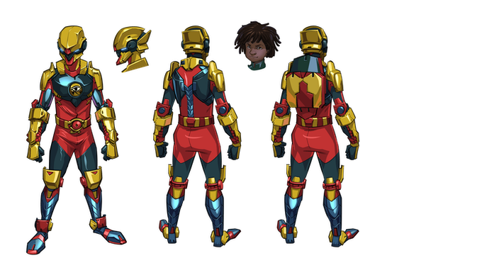 Jamil's bio fusion suit! Equipped with an advanced state of the art visual components, stealth capabilities, limited flight and defensive weaponry.