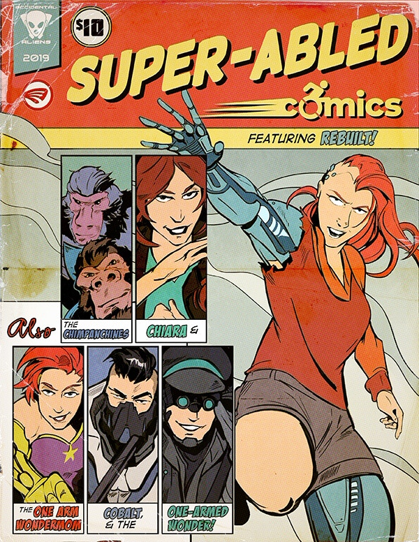 The cover to Super-Abled Comics by Krad Eelav