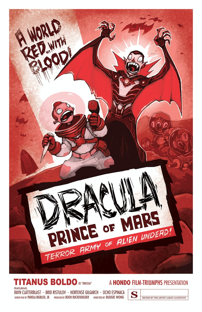 POSTER #3: DRACULA, PRINCE OF MARS