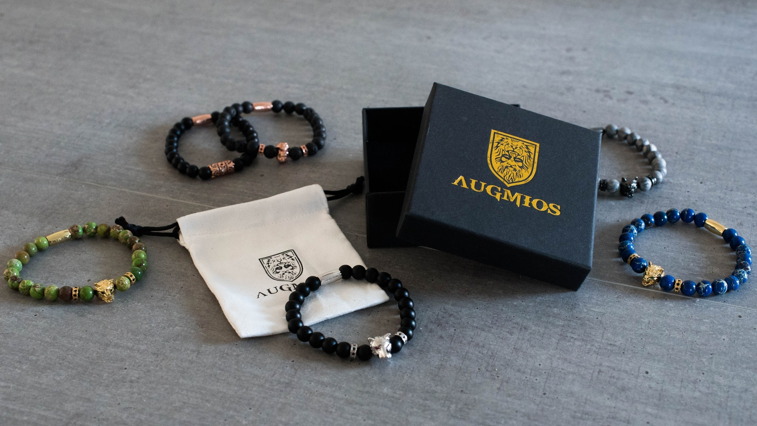 Natural stones, Gold, Silver and Animals: Make a bold statement with Augmios.