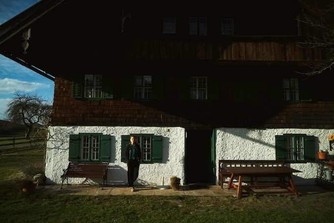 in front of the house, Steindorf, Austria, 2018