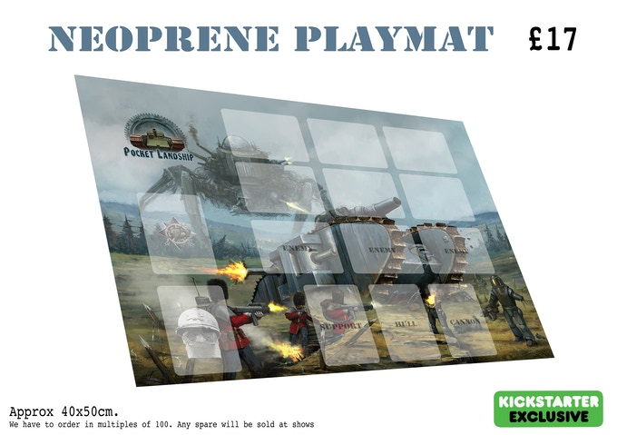 To add 1 (or more) copies of the neoprene play mat to your pledge increase your pledge by £17 for each