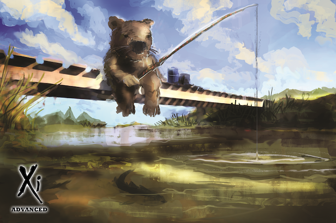 Fishing Wombat - Artist Jordan Saia © Xi Cards Ltd