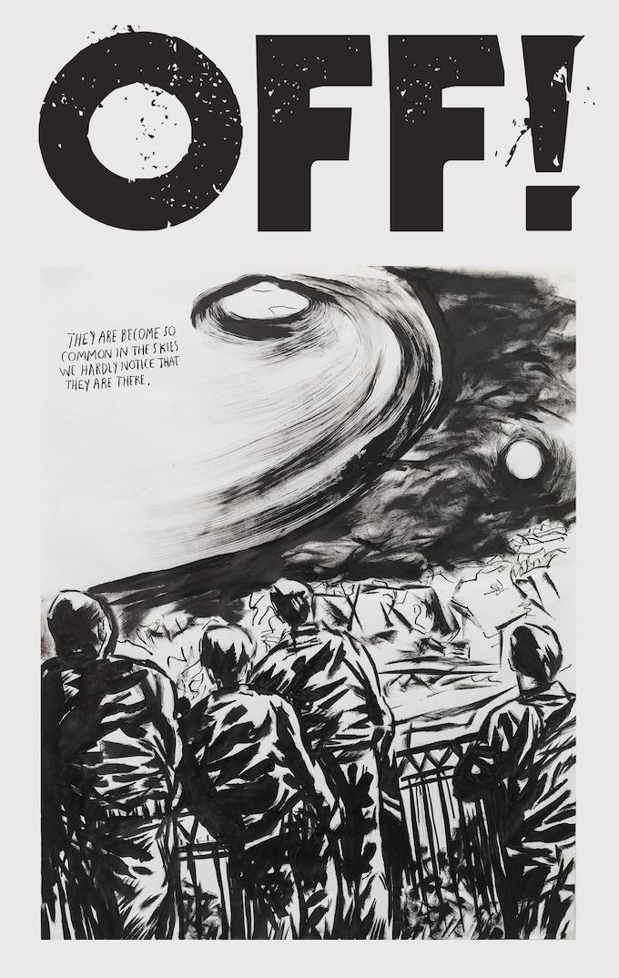 20x30 Raymond Pettibon OFF! print (limited to 300)