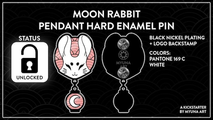 UNLOCKED – Goal 2: Moon Rabbit Pendant Enamel Pin (750€)