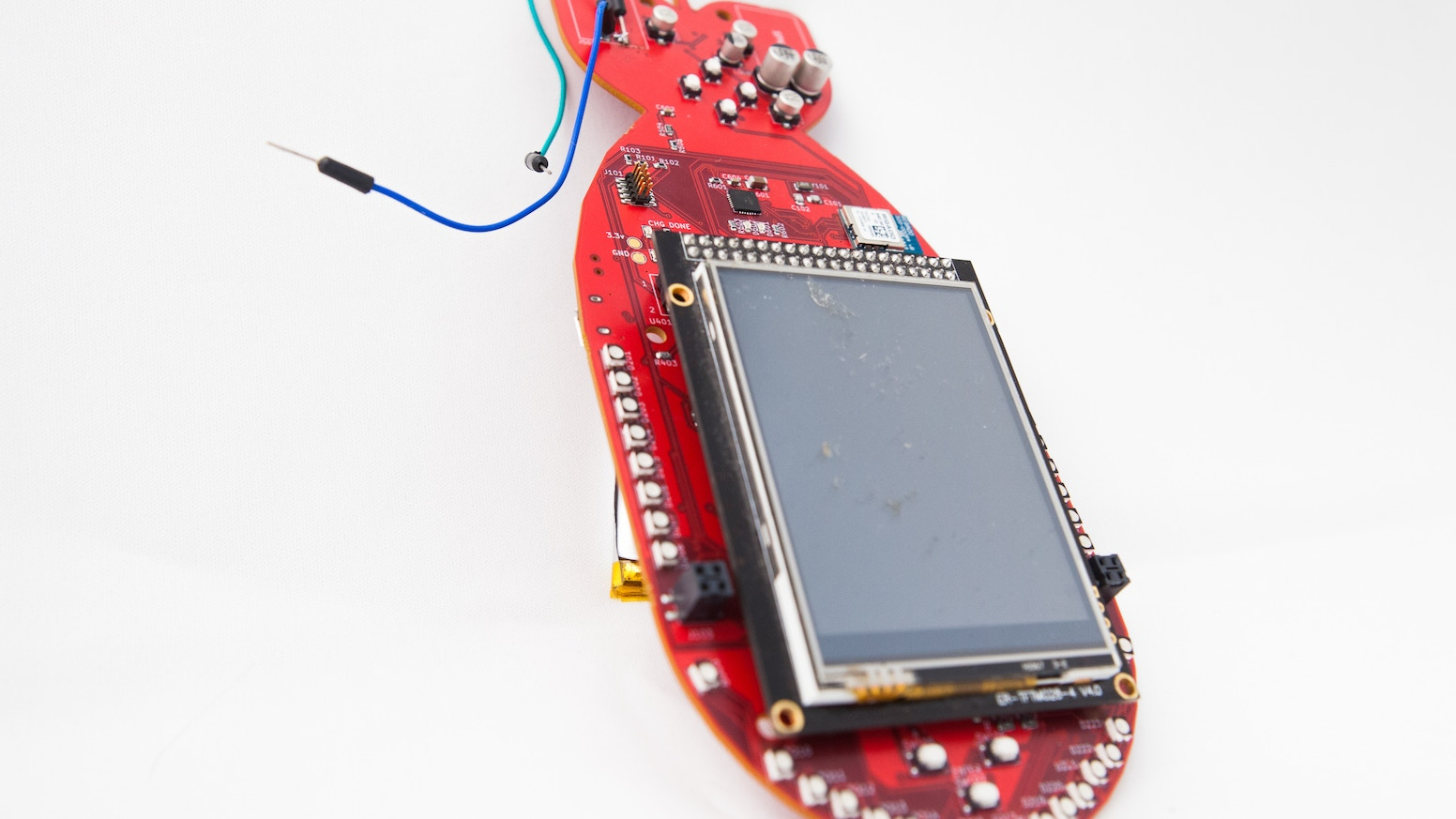 A hackable electronic badge loaded with RGB LEDs, stereo audio, LiPo battery, multiplayer radio-based sea battle game, and more!