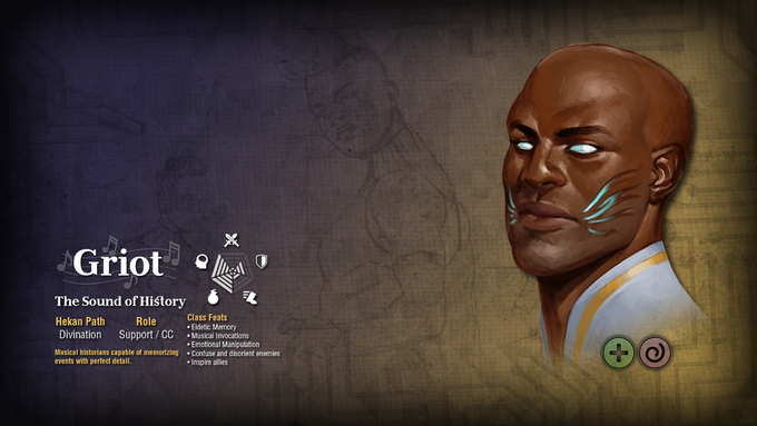 A Work in Progress shot of the Griot Wallpaper - Art by T'umo Mere, Design by Taylor Ruddle