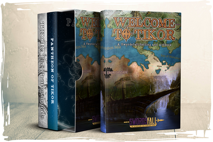 Artist Rendering of the Boxset, not ANYWHERE close to the final design. (The final version will be way cooler, and full of T'umo art)