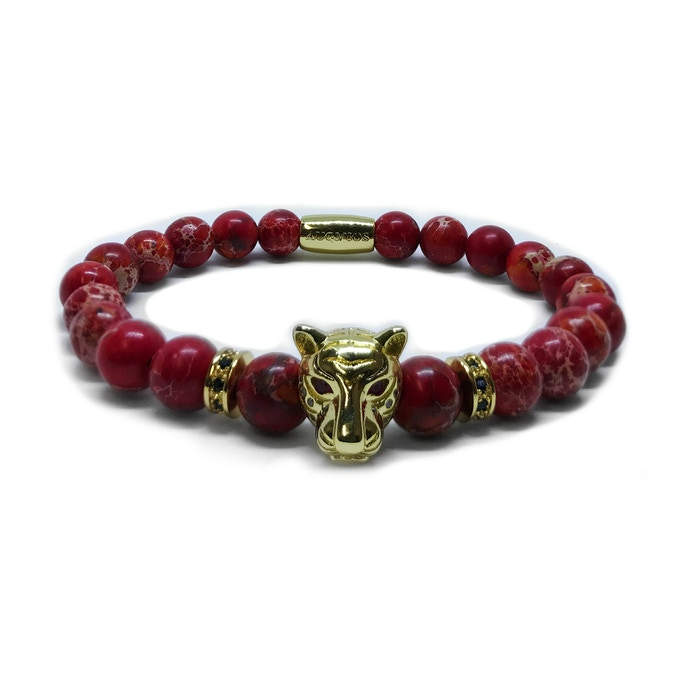 LEOPARD SPECIAL EDITION: GOLD LEOPARD - RED JASPER
