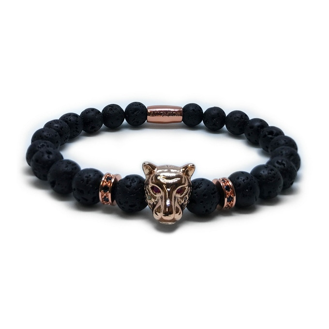 ROSE GOLD LEOPARD - VOLCANIC STONES