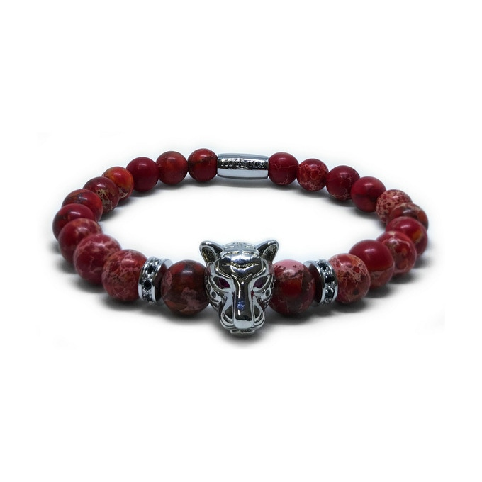 LEOPARD SPECIAL EDITION: SILVER LEOPARD - RED JASPER